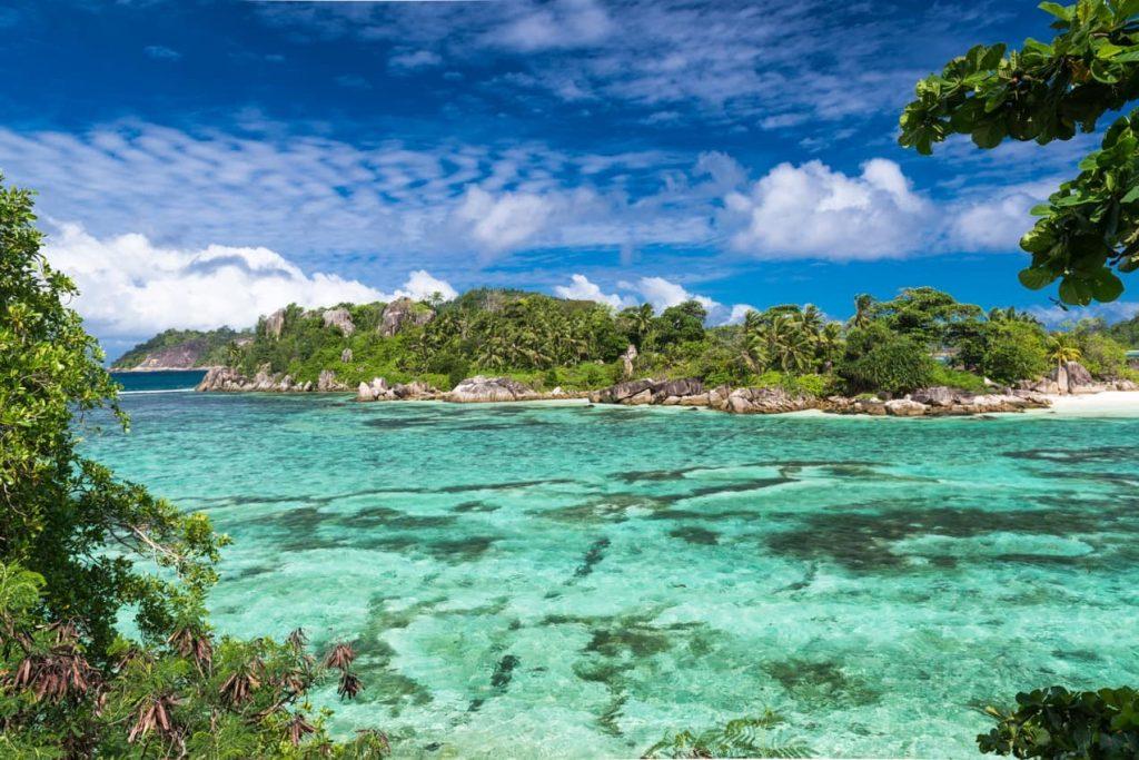 Praia nas Ilhas Seychelles